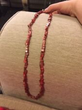 Aura Metallic Red Necklace