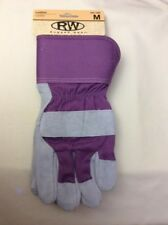 Rugged Wear Women's Cowhide Suede Leather-Cotton Work/Utility/Farm Glove 1 PR, M