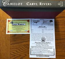 CAMELOT 1st Edition Autographed Signed Caryl Rivers Hardcover COA John F Kennedy