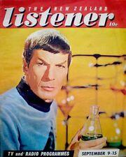 TV Guide 1968 Star Trek Mr. Spock Nimoy International New Zealand Listener COA