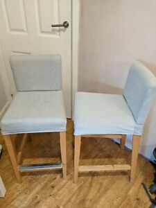 2x IKEA Henriksdal bar stools customised to fit 90cm counter