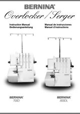 Bernina 700D 800DL Overlocker Serger Machine Owners Instruction Manual