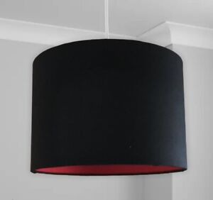 New Hq Stunning Black And Red Lamp Shade Pendant 30 Cm