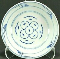 """6 Asian Blue and White Porcelain 4"""" Sauce Dipping Bowls"""