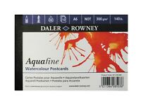 Daler Rowney Aquafine Cold Pressed Watercolour Postcard Pad A6 12 Sheets