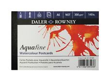 Daler Rowney Aquafine Cold Pressed Watercolour Postcard Pad A6 12 Sheets