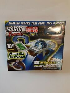 Magic Tracks Monster Rally 160 Glow Track Pieces 10 Ft Speedway New In Box .