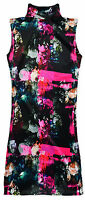 Girls Vibrant Floral Two Side Split Long Polo Neck Tunic Top New Age 3-10 Years