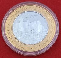 Casino Strike New York 2001 $10 Token .999 Silver Las Vegas 20-2935E