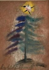 Sybil Gibson Tree With Star Original Folk Painting Outsider Art Painted In 1972