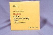 "CC20G Green  NEW Sealed 4"" 100mm Square Kodak Wratten gelatin filter 149 7981"