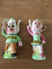 Vintage Anthropomorphic tea pots Salt And Pepper Shakers
