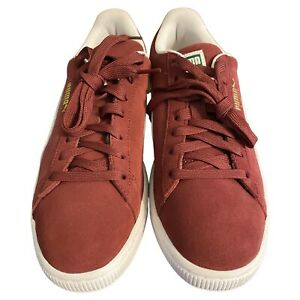 Puma Mens 8.5 Suede Classic Sneaker Shoes Burgundy White 352634 75 Lace Low