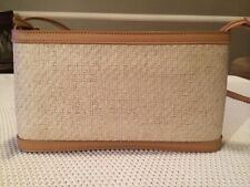 NEW ETIENNE AIGNER Woven And Leather Handbag