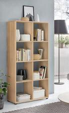 Wilmes: Raumteiler mit 8 Fächer - Bücherregal Standregal Wohnzimmerregal - Buche