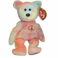 TY Beanie Baby - PASTEL PEACE #102 the Ty-Dyed Bear (Misc) (8.5 inch) - MWMTs