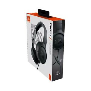 NIB JBL TUNE 500 Wired On-Ear Headphones One-Button Remote & Mic Pure Bass Sound