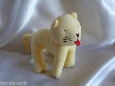 Doudou chat jaune, tire sa langue, Jacadi