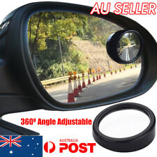 2x Blind Spot Car Mirror 360° Wide Angle Adjustable Rear Side View Convex Glass