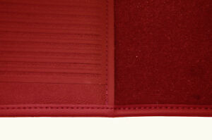 Carpet kit for Triumph 1800 and 2000 Roadster RHD dark red velours