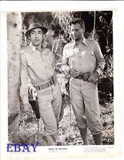 Anthony Quinn John Wayne VINTAGE Photo Back To Bataan