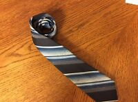 Wembley Wemlon Mens Necktie Blue Multicolored Striped 84P-1