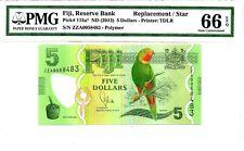 Fiji 2013(ND) $5 Replacement/Star PMG 66 EPQ Gem UNC