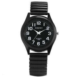 Simple Arabic Numeral Design Mens Womens Quartz Analog Wristwatch Steel Band