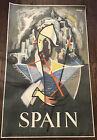 VINTAGE ORIGINAL 1960 JOSE ORTEGA  ARTIST SPAIN TRAVEL POSTER.RARE!!!
