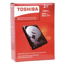 "NEW Toshiba HDWD120xZSTA P300 2 TB 3.5"" Internal Hard Drive - SATA 7200rpm 64 MB"