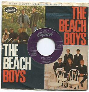 Single Beach Boys: Little Honda (Capitol K 22 817) Beach Boys Firmenlochcover D