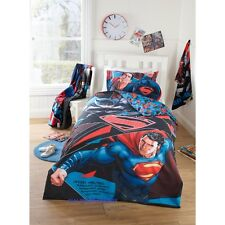 SINGLE BED BATMAN Vs SUPERMAN KIDS LICENSED QUILT DOONA COVER SET + PILLOWCASE