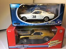1:18 Johnny Lighting 1970 Ford Mustang BOSS 429 & Mira Ford Mustang Fastback RC