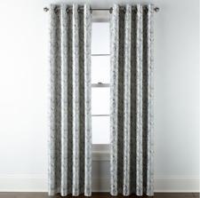 "JCP Home Blaine Blackout Grommet 1 Curtain Panel 50""W x 108""L Ivory Beige Multi"
