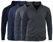Maglione Uomo Zip Casual Pullover Invernale Cardigan Maglia Slim Fit Collo Alto