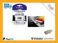 Verbatim OTG USB A to USB Micro Phone & PC USB Flash Drive Micro 32GB 49826
