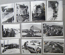 LOT 10 PHOTOS ACCIDENT AUTOROUTE CARAMBOLAGE CAMION VOITURE BOUCHON PHOTO