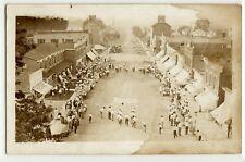 Fourth of July celebration race, main street c. 1910 real photo postcard RPPC