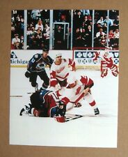 Red Wings Fight Darren McCarty vs C Lemieux Colorado Avalanche 8x10 Color Photo