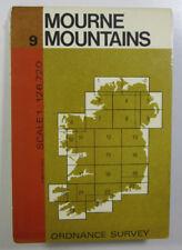 1970 Old Vintage OS Ordnance Survey of Ireland Half-inch Map 9 Mourne Mountains