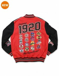 Negro League Baseball Commemorative Jacket Black NLBM Twill Race Jacket