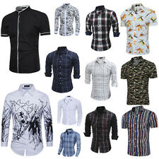 New Mens Fashion Luxury Casual Slim Fit Stylish Long Sleeve Dress Shirts Tops AU