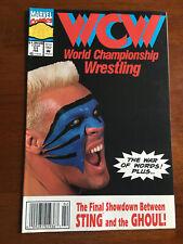 WCW WORLD CHAMPIONSHIP WRESTLING # 11 FINE MARVEL COMICS 1993 NEWSSTAND STING