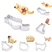 Steel Fondant Cat Cookie Cutters Biscuit Mold Baking & Pastry Tool Cake Mould