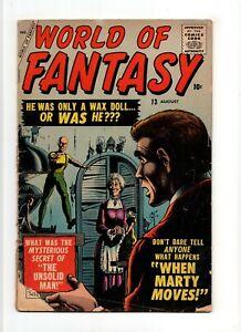 World of Fantasy #13 VINTAGE Marvel Atlas Comic Pre-Hero Horror SciFi Gold 10c