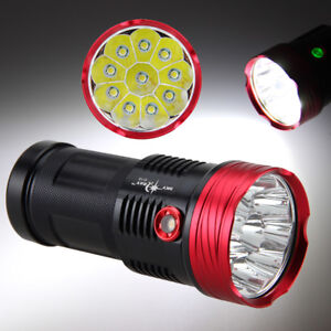 High Power 40000LM XML T6 LED Flashlight Hiking Camping Light Torch Lamp 3 Modes