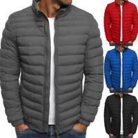 Herren Hoodie Bubble Coats Gepolsterte Puffer Soft Jacke Warme Winter Outwear