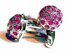 New Fashion 925 Sterling Silver Fine Quality Natural Pink Ruby new Cuff-link