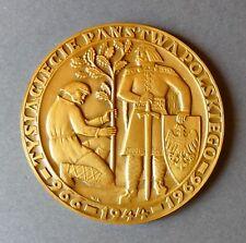 Medaille 1000 Jahre Polen Christentum Religion Kirche Bronze 1966 Original Etui