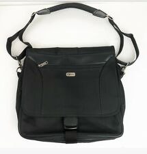 FOSSIL Black Laptop Travel School Crossbody Bag Black Lots Of Compartments Large